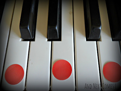 Teaching toddlers and preschoolers how to play chords on the piano from And Next Comes L