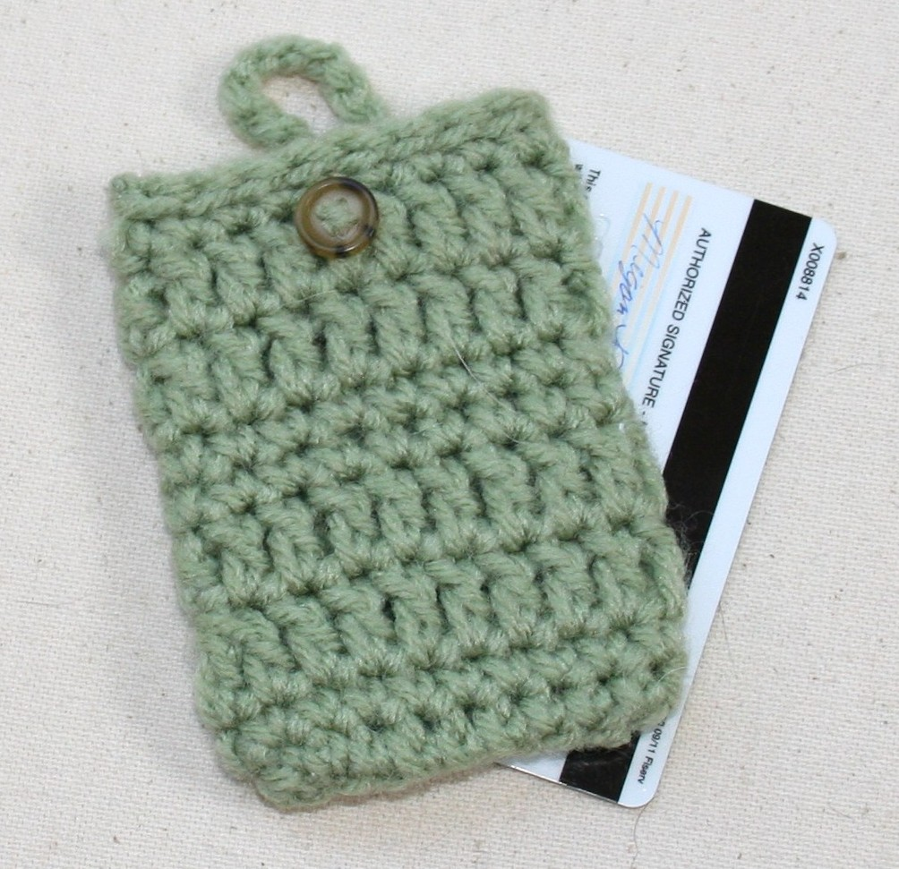 Crocheting Easy Patterns : Tampa Bay Crochet: Free Simple Crochet Pattern: Credit Card Holder ...