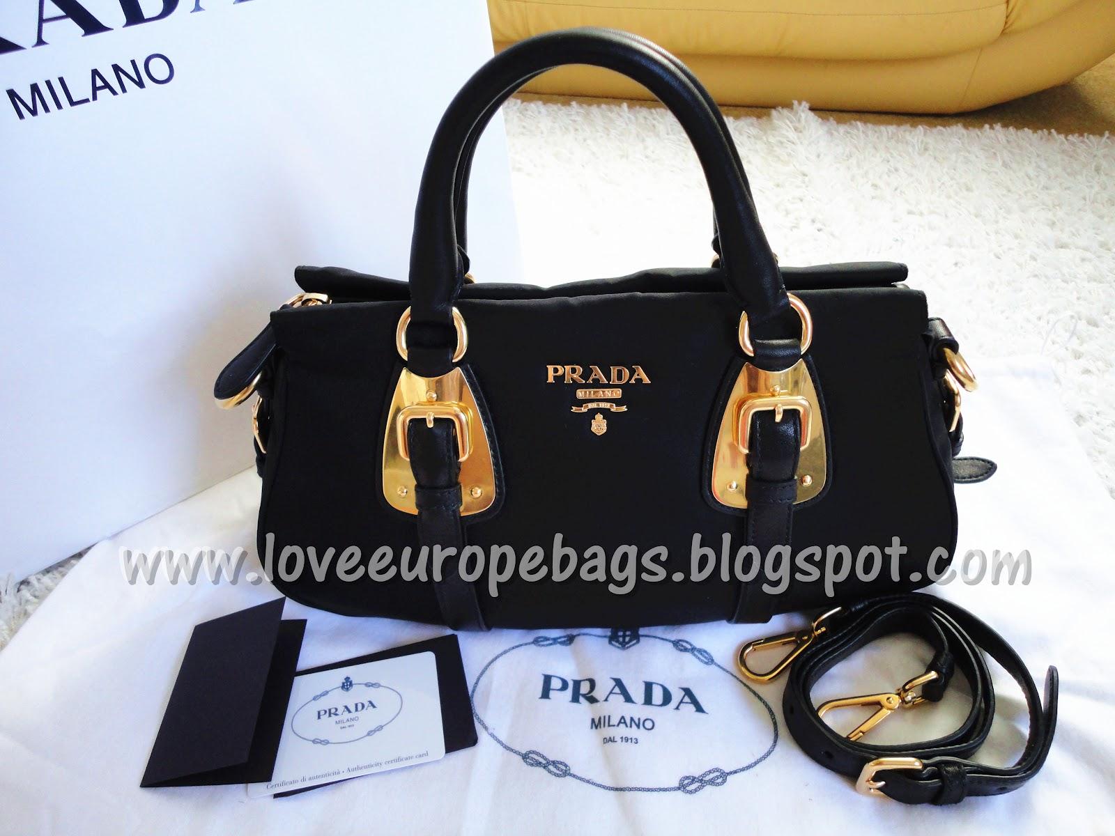 ?~ LOVE EUROPE LOVE BAGS ~ ?: PRADA Bauletto Tessuto Soft Calf ...