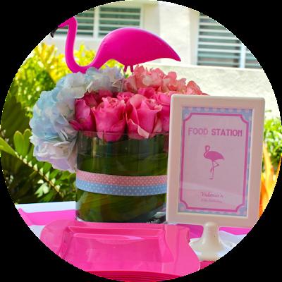 flamingo flower centerpiece