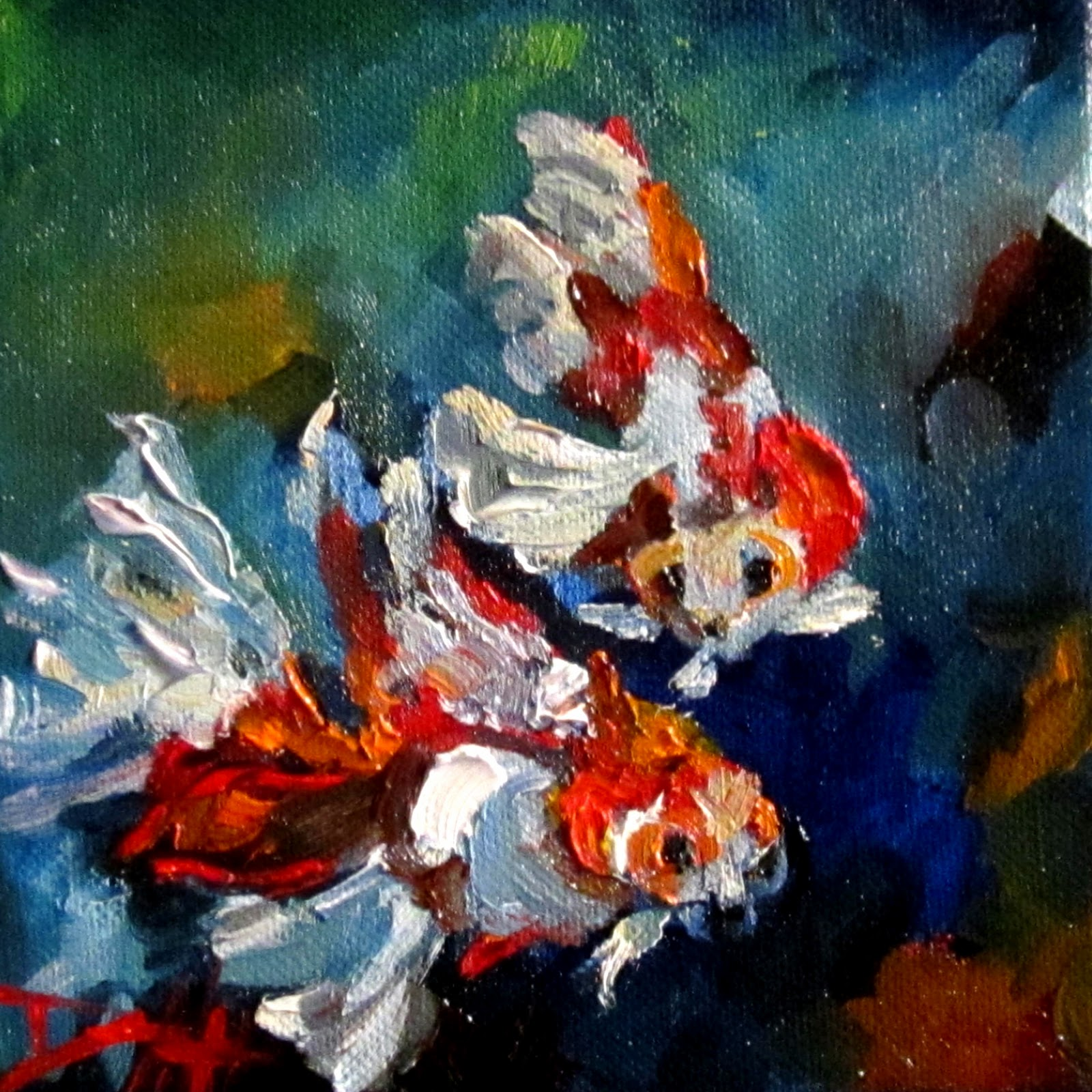 Painting of the day daily oil paintings by delilah gold for Paintings of fish