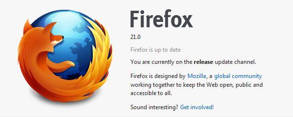 Firefox 21