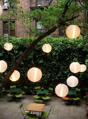 Garden paper lanterns