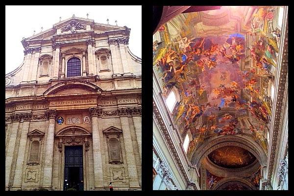 Sklepienie i falszywa kopuła w kościele S. Ignazio