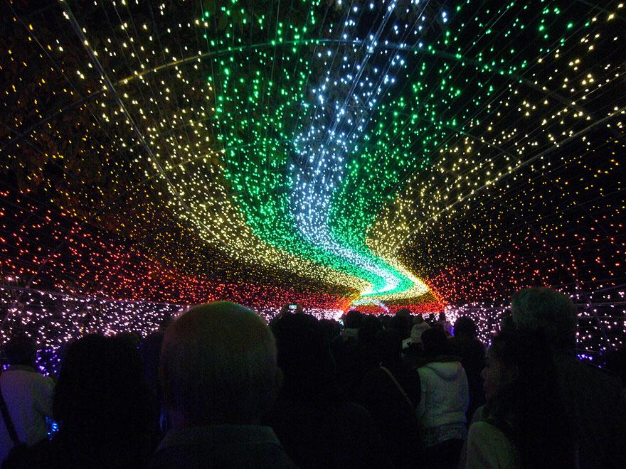 amazing world amp fun tunnel of lights in japan amazing