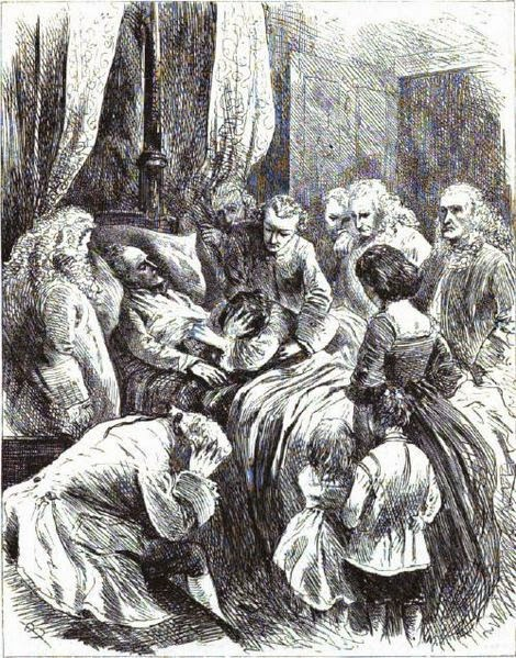 The Death Scene of the Emperor Charles VI from Harper's New Monthly Magazine, Vol. 40, 1870