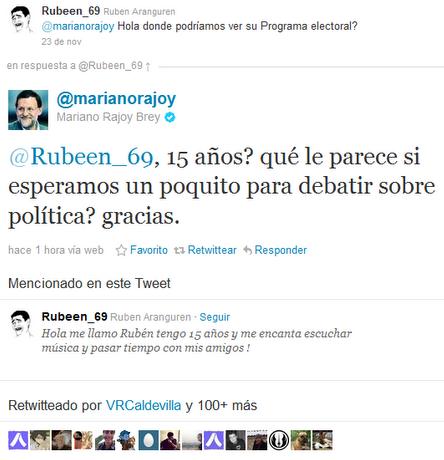 Tweet de Mariano Rajoy