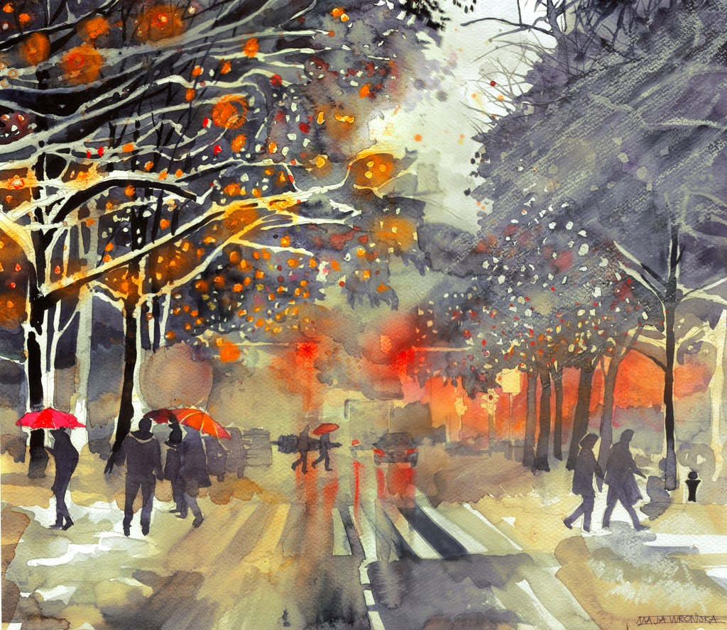 32-Winter-in-the-City-Maja-Wronska-Travels-Architecture-Paintings-www-designstack-co