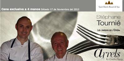 Una cena exclusiva. Carles Gaig y Stéphane Tournié. Blog Esteban Capdevila