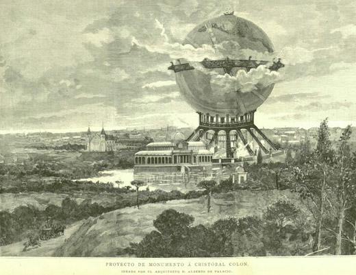 Torre esférica a Colón en Madrid