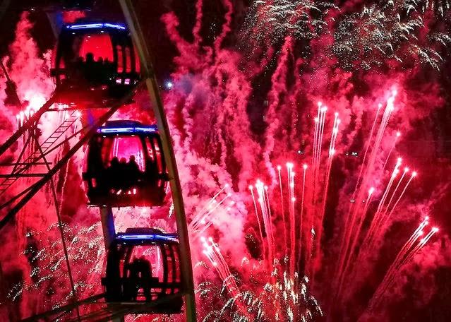 Fuegos Artificiales, año nuevo 2014, Edimburgo, Escocia