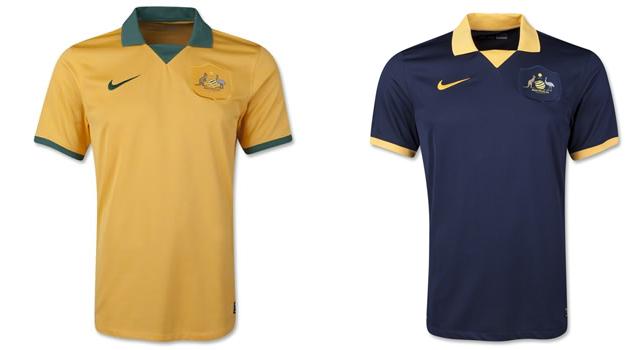 Camisetas selección Australia Mundial 2014