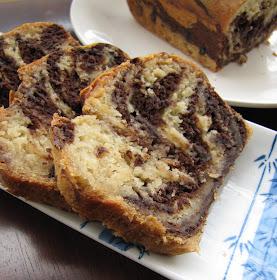 Eggless Chocolate Vanilla Marble Cake