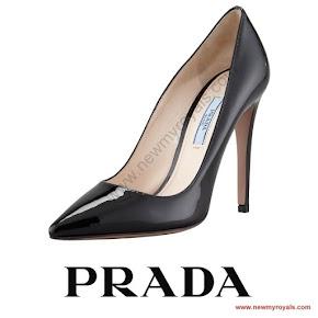 Queen Letizia Style PRADA Saffiano Pumps