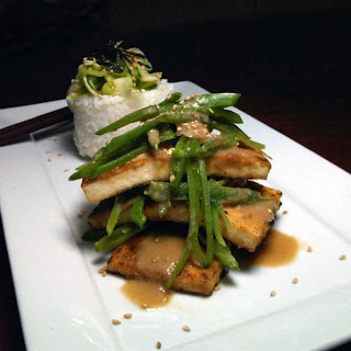 Miso-Ginger Tofu with Ginger Snow Pea Salad | The ...