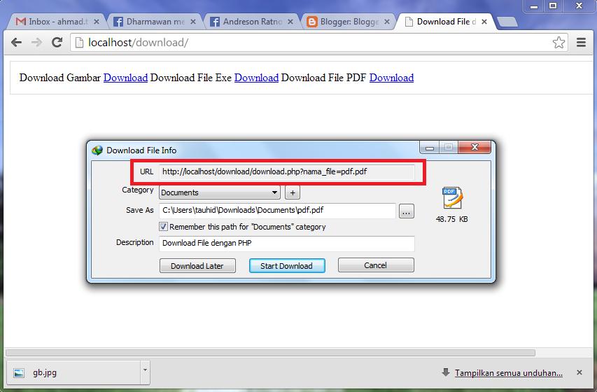 Contoh Download File dengan PHP