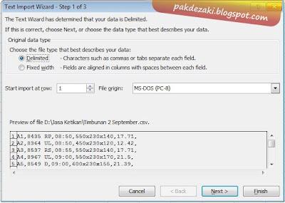 Beginilah Cara mengkorversi File Csv menjadi xls