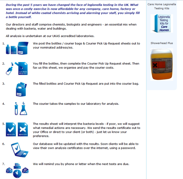 trusted Legionella testing kits supplier