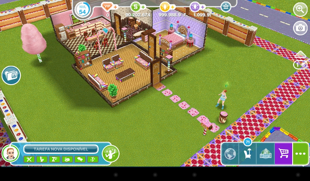 The sims freeplay casa de biscoito for Casa de diseno sims freeplay
