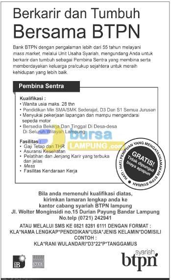 Lowongan Kerja BANK Desember 2014 Terbaru di Lampung