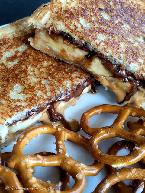 butter nutella and banana grilled sandwich yes she loved the sandwich ...