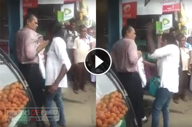 Woman attacks man in Kandy - Video