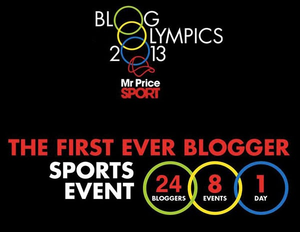 Happiness is... Mr Price Sport BlogOlympics at the Moses Mabhida Stadium in Durban