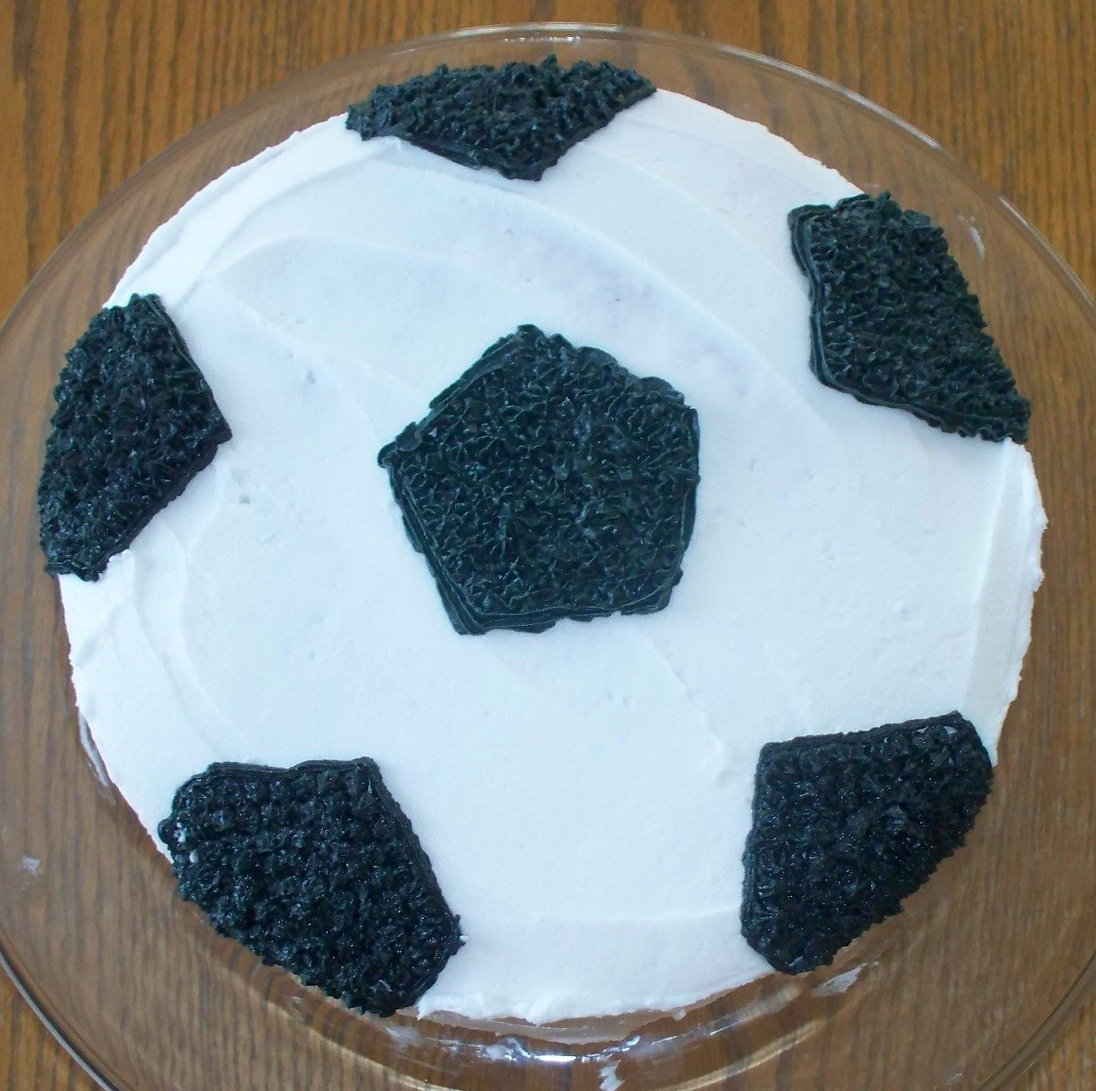 Images Of Soccer Ball Cake : Make Do: Soccer Ball Cake