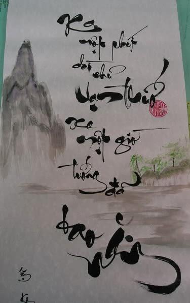 Chữ thư pháp Việt Nam đẹp và ý nghĩa sâu sắc