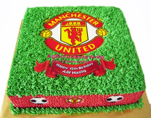 Manchester United Logo Birthday Cake