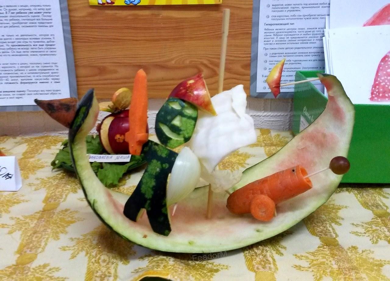 Детские поделки из овощей и фруктов (фото) Коробочка идей 87