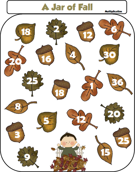 Free Jar of Fall Multiplication