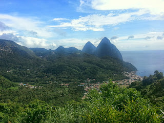 Pitons |  Postcard from St. Lucia on *sparklingly