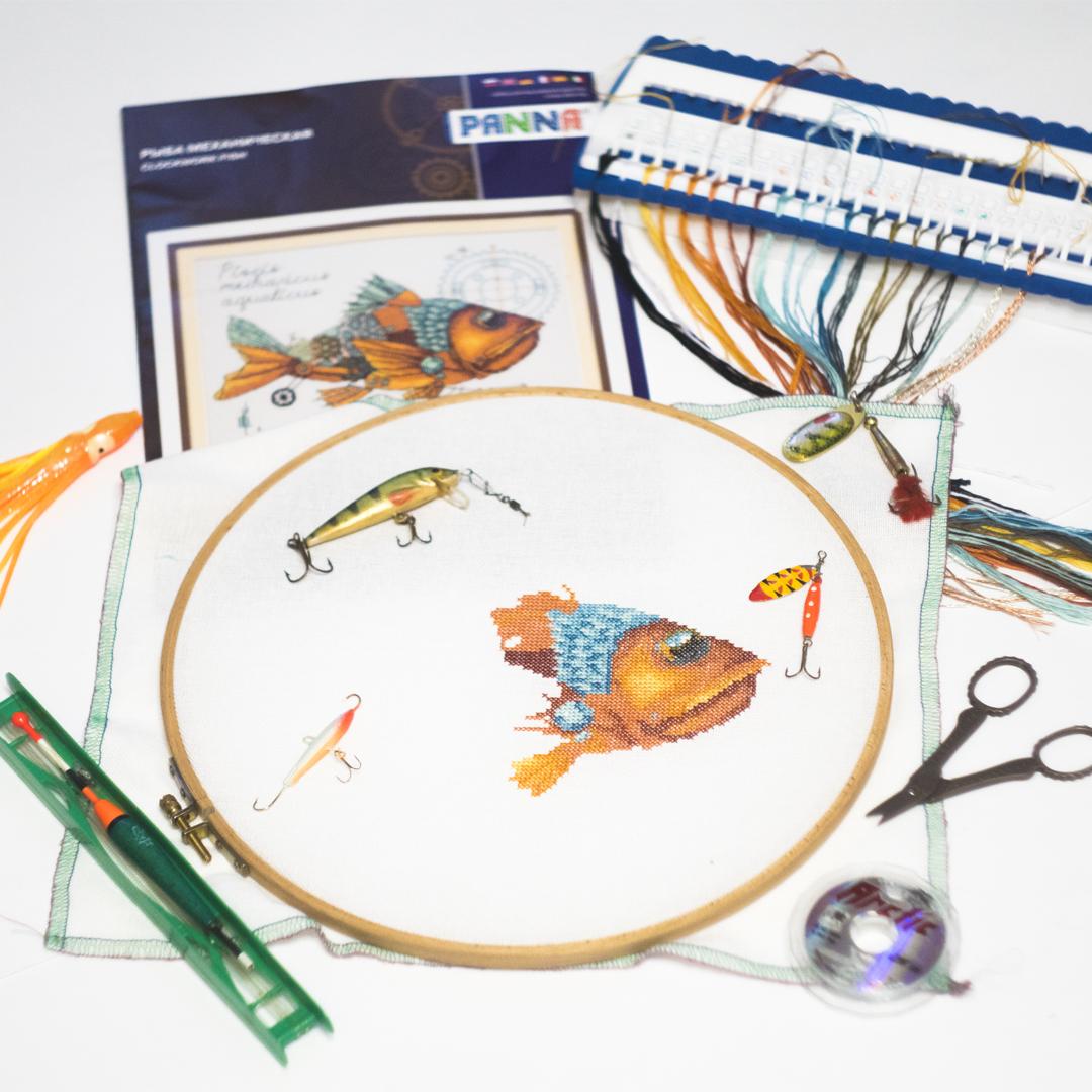 Вышивка крестиком схемы рыбка