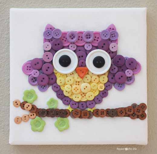 Repeat Crafter Me Button Owl Art