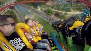 Dragon Khan Roller Coaster 110 km/h | PortAventura 2015 - GoPro Hero 4 Silver Edition