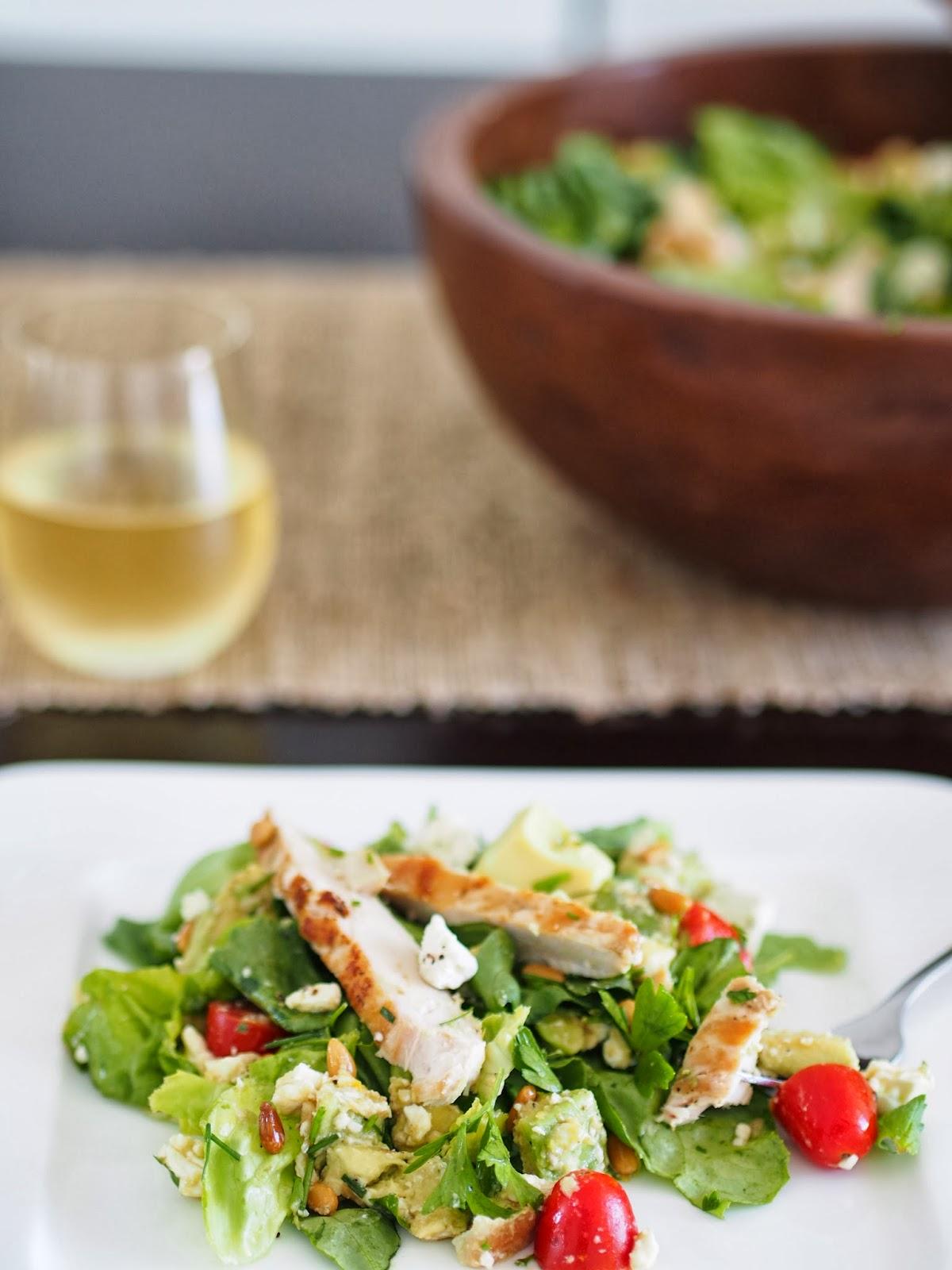 Typical Domestic Babe: Herb Salad w/ Homemade Lemon Dijon ...