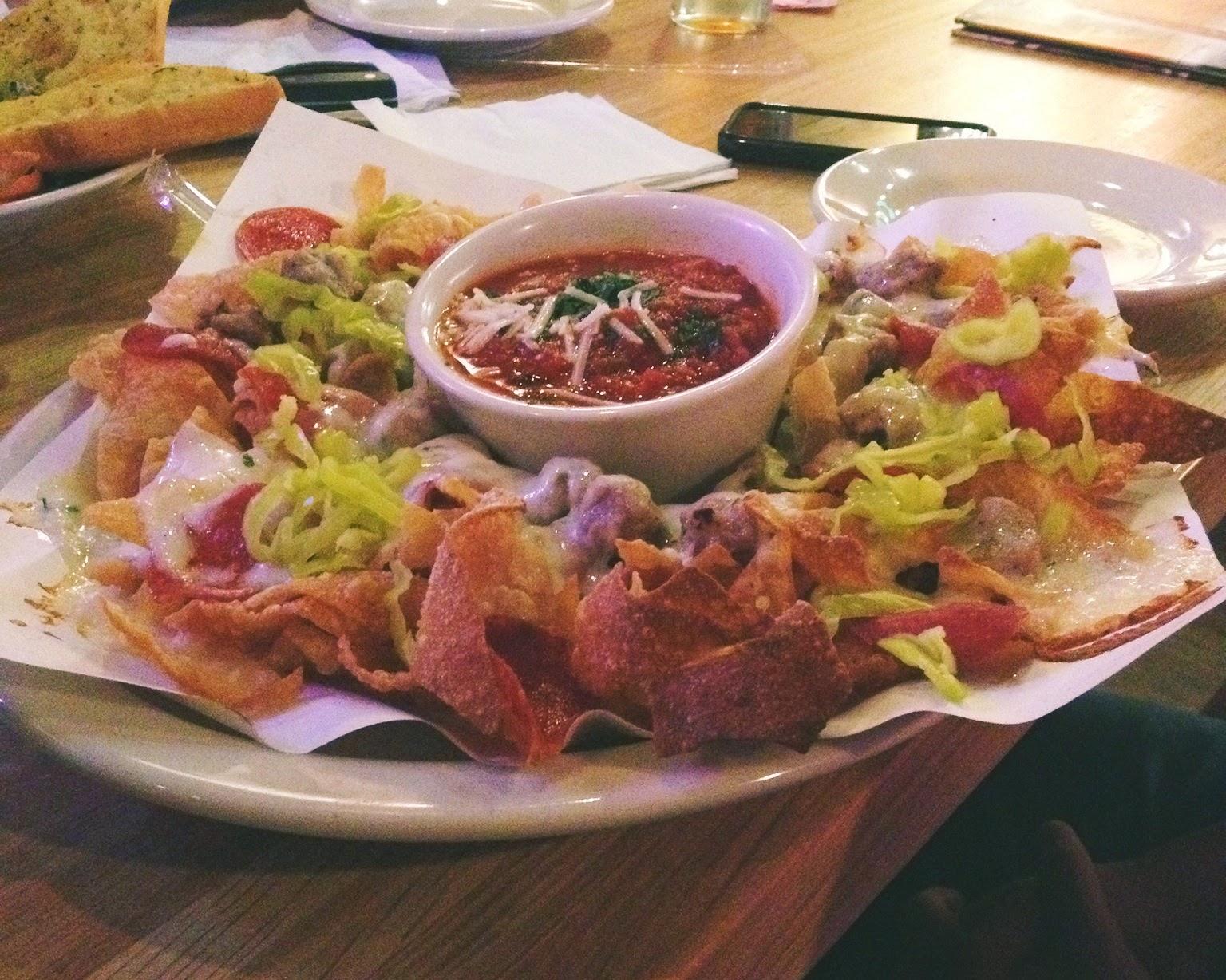 Chapel Hill restaurants, Italian Nachos, Old Chicago, appetizers