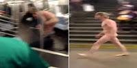 Homem nu no metro