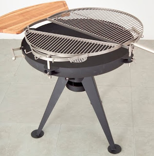 Dual Deck Grill and Firepit