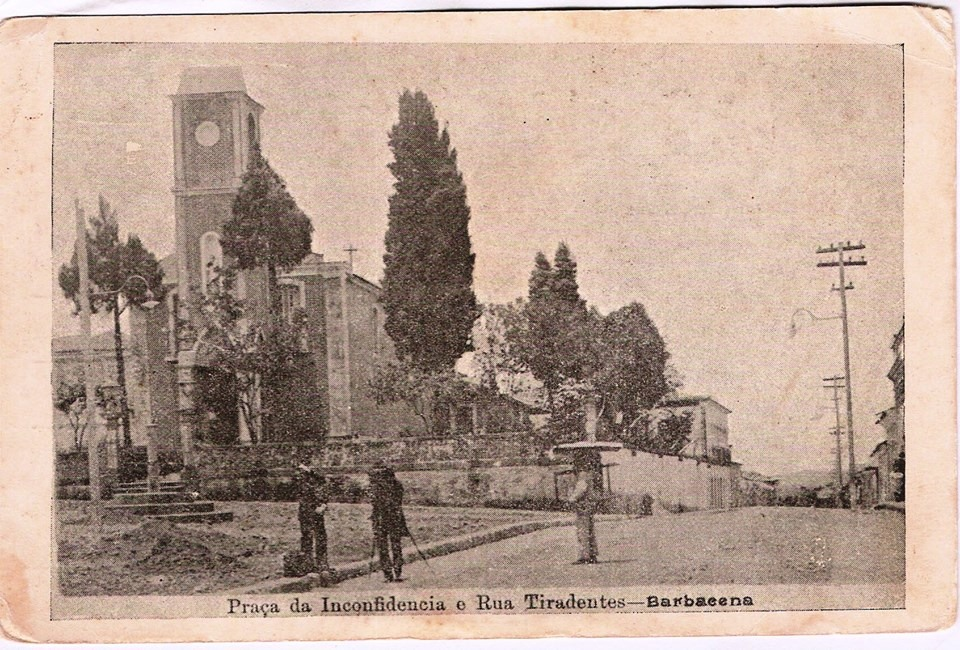 Igreja NS do Rosário de Barbacena MG - Pça da Inconfidencia e Ladeira Tiradentes