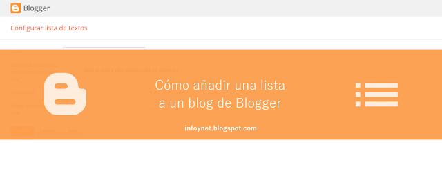 Cómo añadir una lista a un blog de Blogger