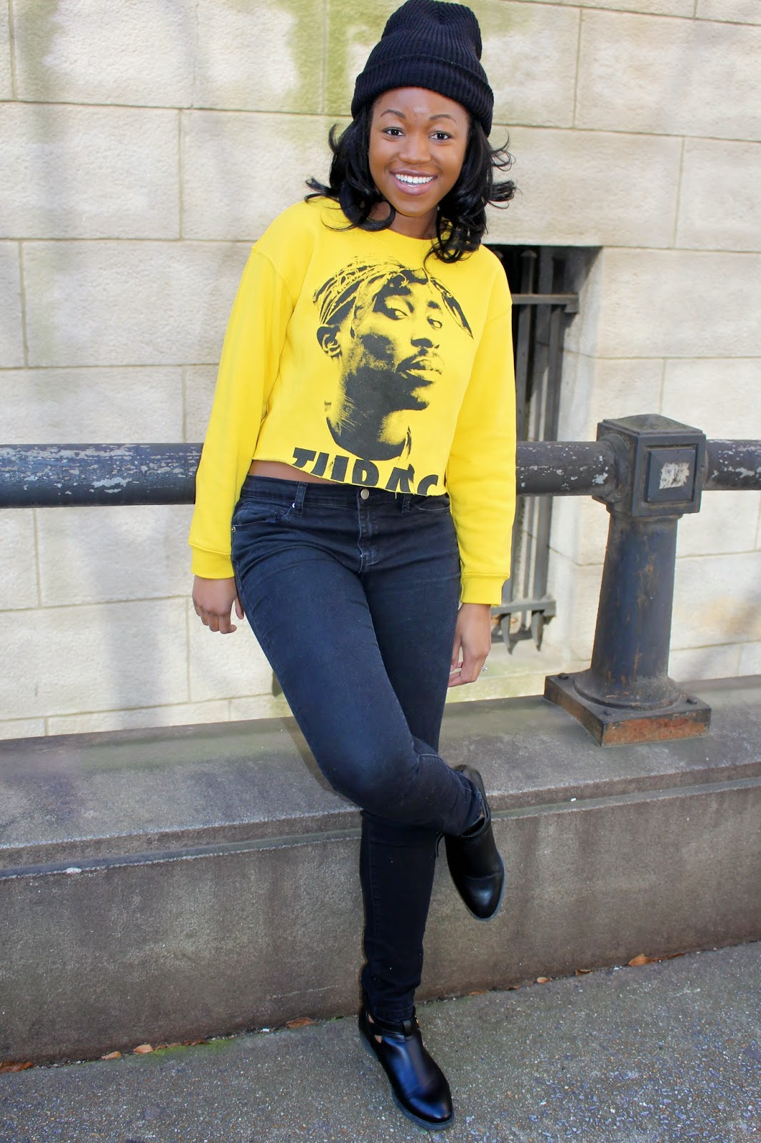 Ashley Udoh | Tupac Sweatshirt and Beanie