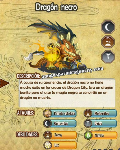 imagen de las caracteristicas del dragon necro