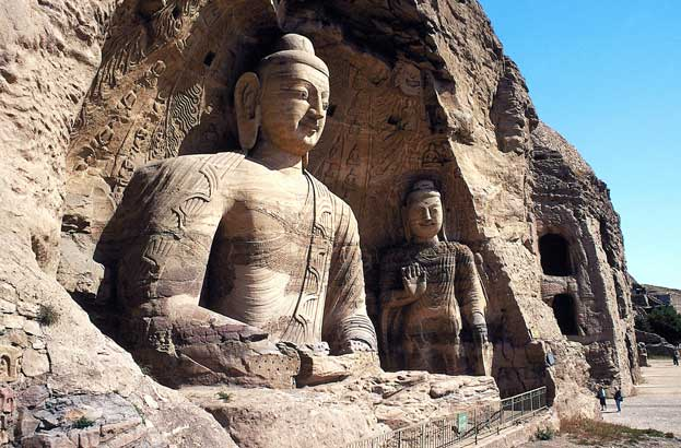 Yungang Grottoes in Datong China