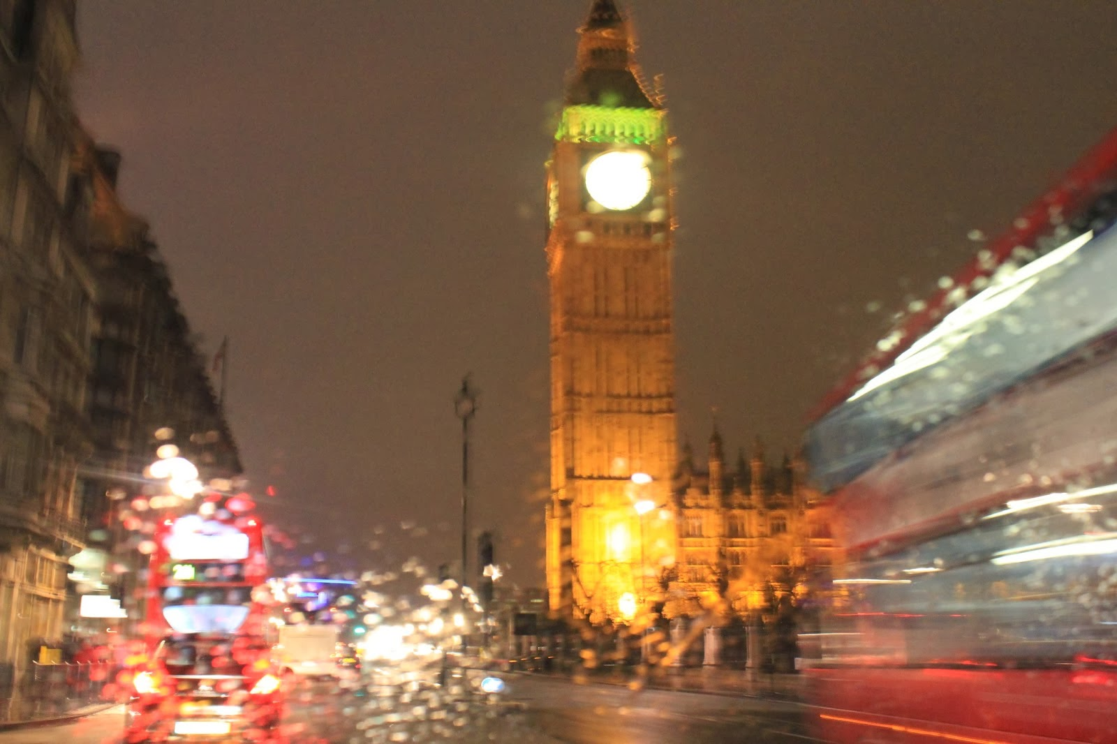 Big Ben in the rain