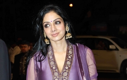 Sridevi in diamond kundan jhumkas.I love her so much here. she looks