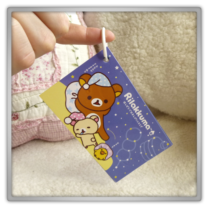 Blippo haul review shoplog rilakkuma kiiroitori korilakkuma notes blue bedtime kawaii