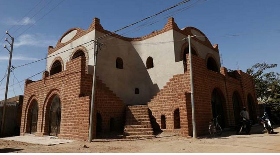 Maisons du Sahel-chantier en cours à Ouagadougou