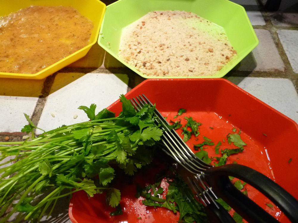 Le roman culinaire v filet de poisson pane - Accompagnement salade verte ...